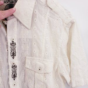 Vintage English Laundry Men's Embroidered Shirt